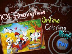 101 Dalmatians Online Coloring Page
