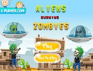 Aliens Burning Zombies