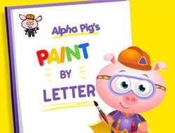 Alpha Pigs Paint By Letter
