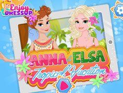 Anna and Elsa Tropical Vacation