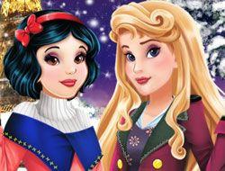 Aurora and Snow White Winter Fashion