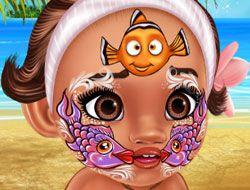 Baby Moana Face Art