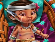 Baby Moana Injured