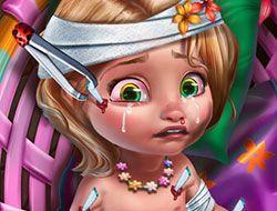 Baby Rapunzel Injured