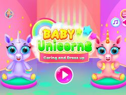 Baby Unicorns Caring And Dressup