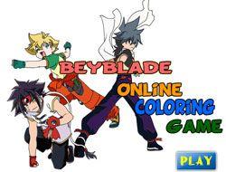 Beyblade Online Coloring Game