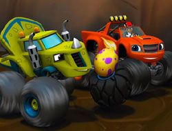 Blaze Monster Machines Hidden Wheels