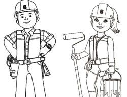 Bob the Builder Colour In