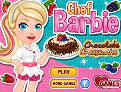 Chef Barbie Chocolate Cheesecake