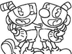Coloring Pages Kids 2020: 35 Cuphead Bosses Coloring Pages