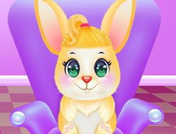 Cute Bunny Caring And Dressup