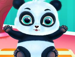 Cute Panda Caring And Dressup