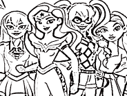 DC Super Hero Girls Coloring