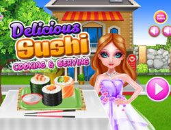 Delicious Sushi Cooking And Serving