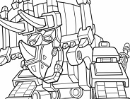 Dinotrux Coloring Game