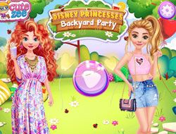 Disney Princesses Backyard Party