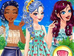 Disney Princesses Summer Braids