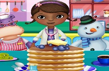 Doc McStuffins and Friends Cooking Pancakes