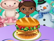 Doc McStuffins Hamburger Cooking