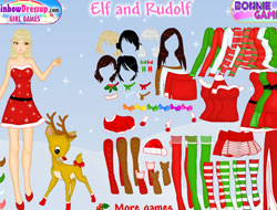 Elf And Rudolph Dress Up