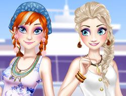 Elsa and Anna Spring Break
