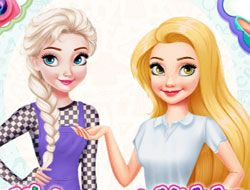 Elsa Vs Rapunzel Fashion Game