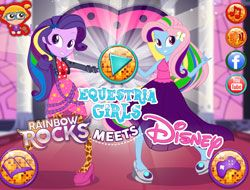 Equestria Girls Rainbow Rocks Meets Disney