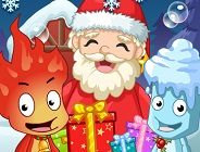 Fireboy and Watergirl Santa Adventure