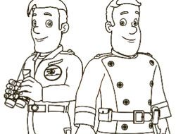 Fireman Sam Colour In