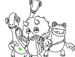 Gigantosaurus Coloring Game