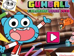 Gumball Coloring Book 2018