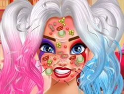 Harley Quinn Face Care and Make Up
