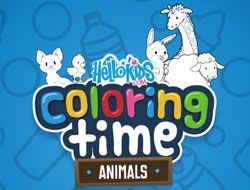 HelloKids Coloring Time: Animals