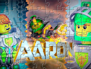 Lego Nexo Knights Puzzle with Aaron