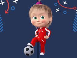 Masha and the Bear Football