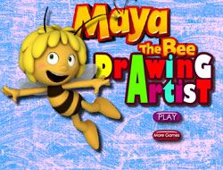 Maya the Bee Drawing Artist