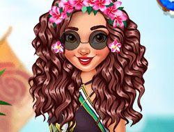 Moana Stylish Tropical Flowers