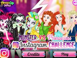 Monster Vs Disney Princesses Instagram Challenge
