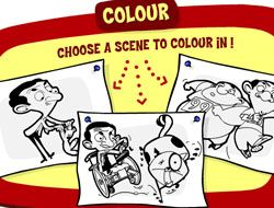 Mr Bean Colouring In
