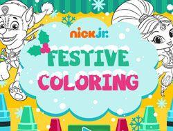Nick Jr Festive Coloring
