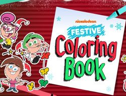 Nickelodeon: Festive Coloring Book