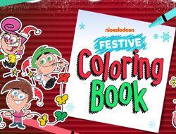 Nickelodeon: Festive Coloring Book