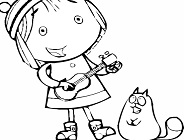 Peg Plus Cat Coloring