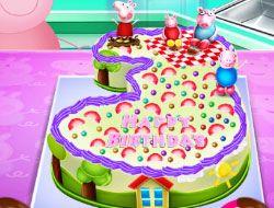 Peppa Pig Birthday Cake Cooking
