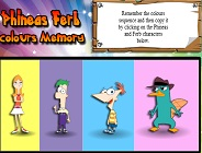 Phineas and Ferb Colors Memory