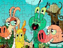 Pig Goat Banana Cricket Characters Puzzle