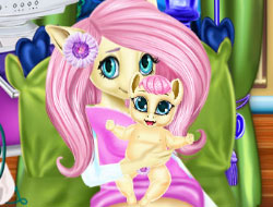 Pony Fluttershy Baby Birth