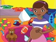 Pregnant Doc McStuffins Cleaning Baby Room