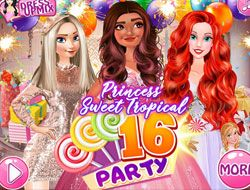 Princess Sweet Tropical Sixteen Party