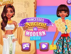 Princesses Ancient vs Modern Looks